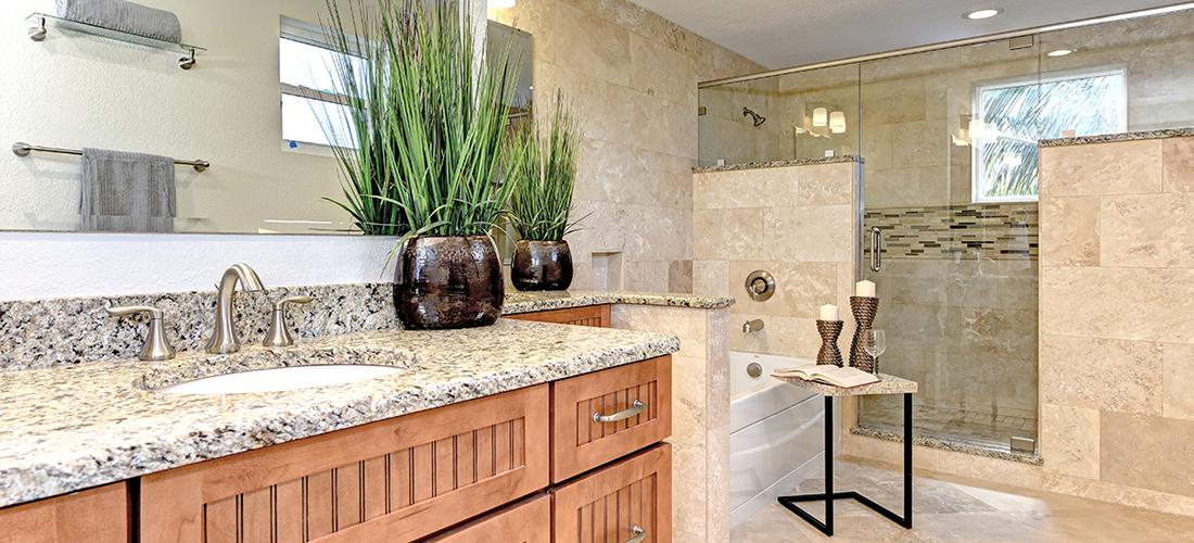 Luxury master bath Anna Maria Island Florida