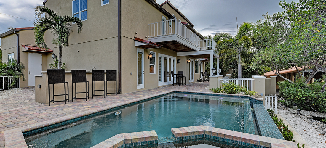 residential waterfront pool Anna Maria island Florida